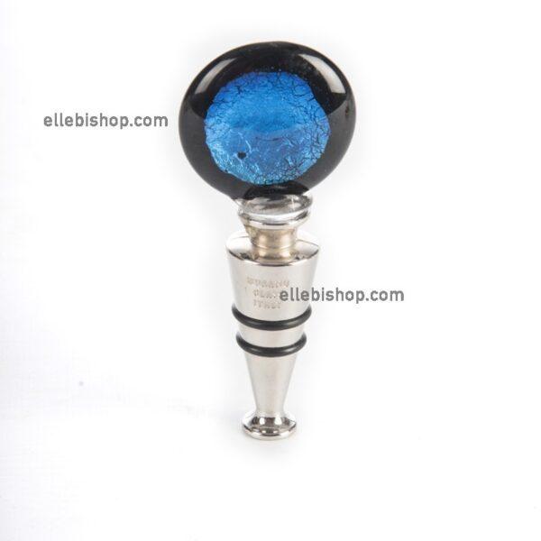 Tappo blue souvenir in vetro di Murano