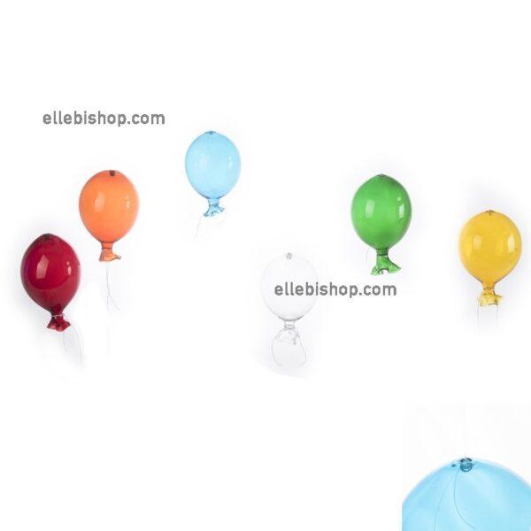 Palloncini souvenir in vetro di Murano Trasparente, blue, rosso, Verde, giallo e arancione